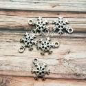 Подвеска Снежинка, серебро, металл, 17x14мм.,  цена за 1 шт., UP000502