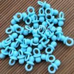 Подвеска Пустышка мятно-голубая, пластиковая, 21х12мм., цена за 1 шт., UP000570