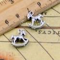 Подвеска Лошадка 3D,  серебро, 16 мм.,цена за 1 шт., UP000594