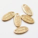 Подвеска Hand Made, золото, овал 12х6 мм,, цена за 1 шт., UP000596