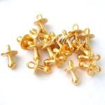 Подвеска Пустышка, золото, 13х9 мм, цена за 1 шт., UP000601