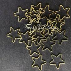 Подвеска Звёздочка, золотая, 22мм, цена за 1 шт., UP000634