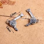 Подвеска Фен, цвет: серебро, металл, 16х22мм.,  цена за 1 шт., UP000667