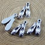 Подвеска Туфельки, серебро, 18х20мм, цена за 1 шт., UP000676