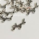 Подвеска Angel, металлическая, цвет: серебро, размер 12х20 мм., цена за 1 шт., UP000693