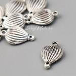 Подвеска  Воздушный шар, 3D, серебро, металл, 17х13мм., цена за 1 шт., UP000695