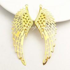 Подвеска Крыло Angel, цвет: золото, 70х25мм, цена за 1 шт., UP000703