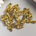 Подвеска Ложечка малыша - baby, золото, размер 21х7 мм, цена за 1 шт., UP000708