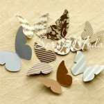 Бабочки Paper Reverie, Making Memories , 60 шт., размер 35x70 мм.,  VT000138