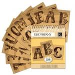 Набор Алфавит Alfa Tear Pad 176, HandMade от K&Company.