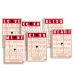 Mini BINGO Cards Valentine 208, 65х90 мм., 6 шт., Jenni Bowlin