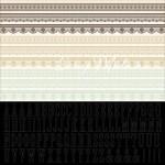Высечки матовые, на самоклейке Бардюри Алфавит - On This Day Collection 388, 300х300 мм., Kaiser Craft