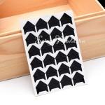 Уголки для фото Чёрные, размер  видимой части уголка 15х15 мм.,  24 шт., VT000396