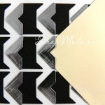 Уголки для фото серебро, размер  видимой части уголка 15х15 мм., 24 шт. DA000019