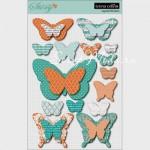 Наклейки высечки 3D на пенном скотче Бабочки 402, коллекция Tell Your Story 2012, Teresa Collins