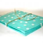 Бумажный пакет,  голубой в белый горох, 180х135 мм., цена за 1 шт., Dolce Arti. VT000437