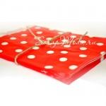 Бумажный пакет,  красный в белый горох, 180х135 мм., цена за 1 шт., DA040214, Dolce Arti, VT000438
