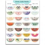 Лист Buttermilk Lemon Sliced Garland Flags с картинками , 28 шт., размер листа 125х180, Pretty Little Studio, VT000488