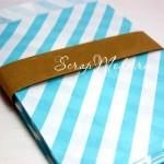 Бумажный пакет, Rayet голубой, 180х130 мм., цена за 1 шт., DA040205, Dolce Arti, VT000515