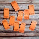 Билетики оранжевые с номером, цена за 5 шт., 25х50 мм., VT000574