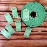 Билетики зеленые с номером, цена за 5 шт., 25х50 мм., VT000576