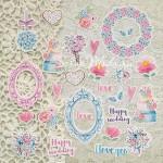 """Набор высечек """"Chic Wedding"""", Mona Design, VT000616"""