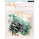 Высечки Little You Boy, 38 штук, pазмер: от 2 до 10 см., Crate Paper. VT000633