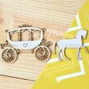 Чипборд Карета с лошадью, размер: 11,5х5 см, Woodheart. VT000669