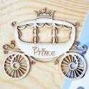 Чипборд Карета принца, размер: 6,5х6 см, Woodheart. VT000670