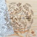 Набора чипборда Ветка и листья, размер: от 2 до 7 см., Woodheart. VT000674