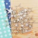 Набора чипборда Звезды, размер: от 1х1 до 5х6 см., Woodheart. VT000679