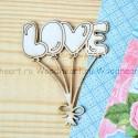 Чипборд Шарики Love, размер: 5,5х7 см., Woodheart. VT000683
