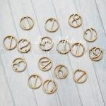 Чипборд Цифры в кругах, размер: диаметр 2 см, в наборе 16 шт., Woodheart. VT000685