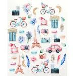 Набор высечек Однажды в Париже, Mona Design, VT000697