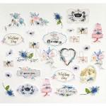 Набор высечек Свадебная история, 30 элементов, Mona Design, VT000698
