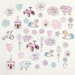 Набор высечек Little girl, 40 элементов, Mona Design, VT000700