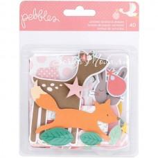 Высечки Lullaby Baby Girl, в наборе 40 элементов. Pebbles VT000716
