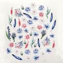 Набор высечек Цветы, коллекция Однажды в Париже, 52 элемента, Mona Design, VT000734