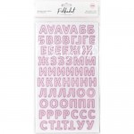 Картонные стикеры – алфавит Зефирный, кол-во: 144 шт., на клеевой основе. Polkadot, VT000744