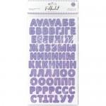 Картонные стикеры – алфавит Сирень, кол-во: 144 шт., на клеевой основе. Polkadot, VT000745