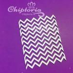 Чипборд Шеврон №3, размер9,6х7,2 см, Chiptoria. VT000775