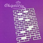 Чипборд Кирпичи №2, размер 9,6х6,6см, Chiptoria. VT000777