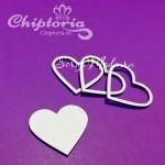 Чипборд Шейкер Сердце №8, размер упаковки 6х5,2 см., Chiptoria. VT000799