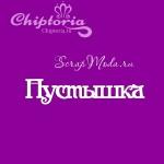 Чипборд надпись Пустышка (cas), Chiptoria. VT000855