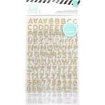 Стикеры с глиттером Hello Beautiful, золото и серебро, 212 элементов, Heidi Swapp, VT000874