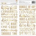 Стикеры Night Night Baby Girl, в наборе 151 элемент, American Craft, VT000876