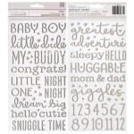 Стикеры Night Night Baby Girl, золотые стикеры из фоамирана, American Craft, VT000882