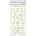 Стикеры Алфавит Carousel,  в наборе 353 стикера на фоамиране, клеевой слой,  Crate Paper, VT000886