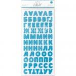 Картонные стикеры - алфавит Небесный, кол-во: 144 шт., Polkadot, VT000892