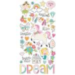 Чипборд на самоклейки Dream Big, размер упаковки 30х15см., в наборе 37 элементов, Simple Stories, DA000668